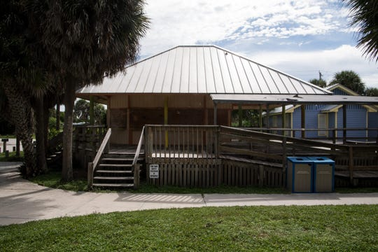 The boarded up Chef Shack at Stuart Beach is seen Wednesday, Aug. 14, 2019, in Stuart.