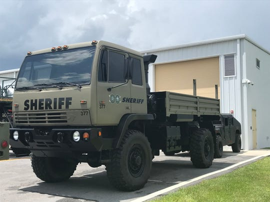 The water rescue vehicle owned by both the Martin County Sheriff's Office and the St. Lucie County Sheriff's Office.