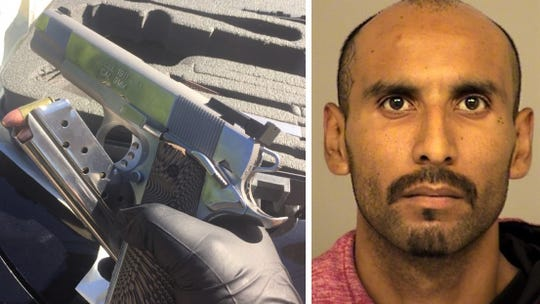 A gun was seized from Fabian Garibay when he was arrested in Fillmore, according to authorities.
