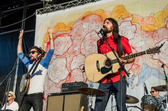 The Avett Brothers perform at the 2013 Firefly Music Festival in Dover.