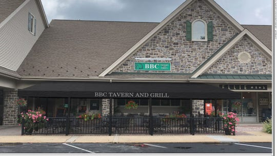 A rendering by architects Archer & Buchanan of the new patio, awning and front doors being installed at BBC Tavern and Grill in Greenville. The restaurant closed for renovations on Aug. 12 and will reopen on Aug. 19.