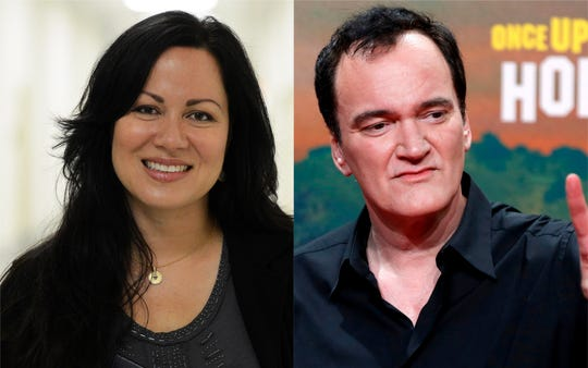 Shannon Lee and Quentin Tarantino