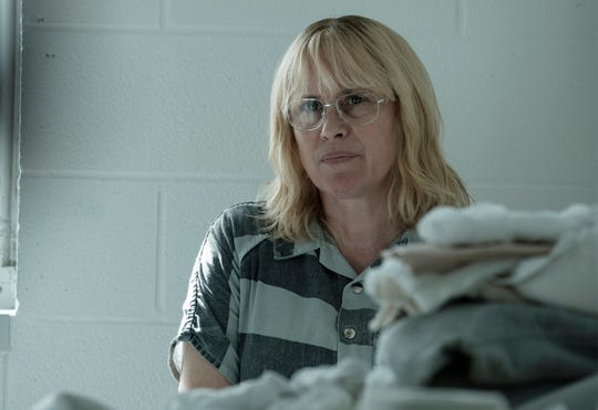 "This image released by Showtime shows Patricia Arquette in ""Escape at Dannemora."" Arquette was nominated for an Emmy Award for outstanding lead actress limited series."