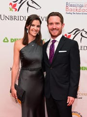 Sarah Vickers and race car driver Brian Vickers attend the 141st Kentucky Derby - Unbridled Eve Gala at Galt House Hotel & Suites on May 1, 2015 in Louisville, Kentucky.  (Photo by Michael Loccisano/Getty Images for the 141st Kentucky Derby - Unbridled Eve Gala [Via MerlinFTP Drop]