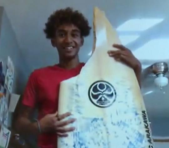 16-year-old Max Keliikipi narrowly escaped a shark attack.