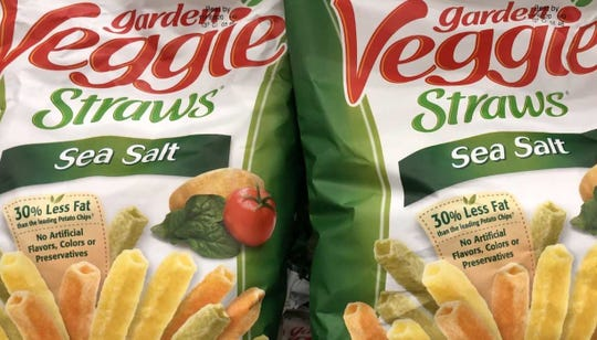Garden Veggie Straws come in flavors like Sea Salt, Cheddar Cheese and Zesty Ranch.