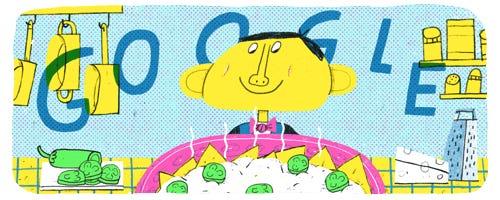 A Google Doodle honoring Ignacio Anaya García, the inventor of nachos.