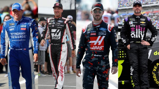 (From left to right) Ryan Newman, Clint Bowyer, Daniel Suarez and Jimmie Johnson are on the NASCAR Cup Series playoff bubble.