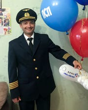 Captain Damir Yusupov, 41, worked as a lawyer before he changed course and enrolled in flight school when he was 32.