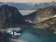 NASA scientists flew over Greenland to track melting ice. They took some sobering photos