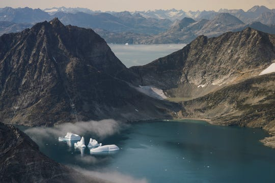 NASA scientists photographed icebergs in Greenland.