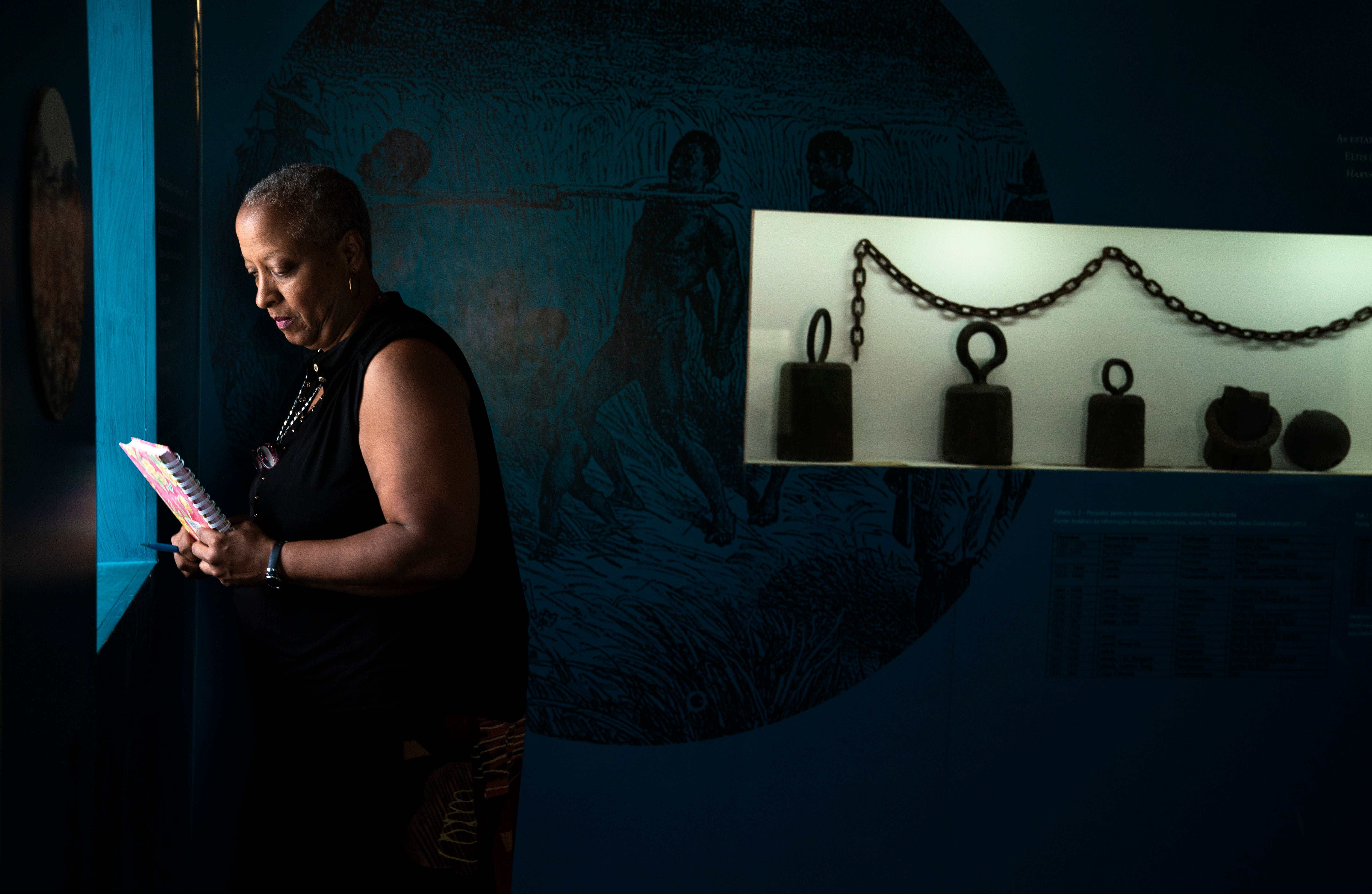 """From the window at the National Museum of Slavery on the outskirts of Luanda, Wanda could hear the ocean that carried Angolans to Virginia. """"They remind me, through 400 years, that I too can face another day,"""" she wrote in her journal. """"I can be resilient. I can have faith and hope."""""""