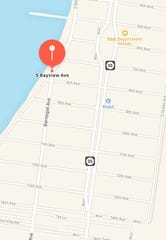 A map of the location of the possible luring at South Vayview Avenue. The incident occurred at around 9:45 p.m. on Thursday night.