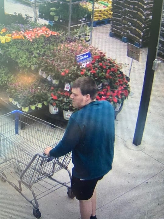 Police are looking for a man who left with two AC units at Walmart without paying
