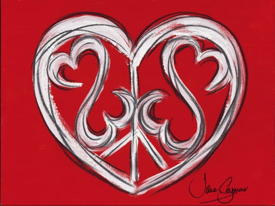 """Peace, Love and an Open Heart"" by Jane Seymour."