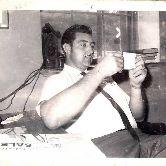 """This photo, dated August 12, 1970, shows James """"Dedrick"""" Brown and his trademark mustache when he first served as Madison County Sheriff."""