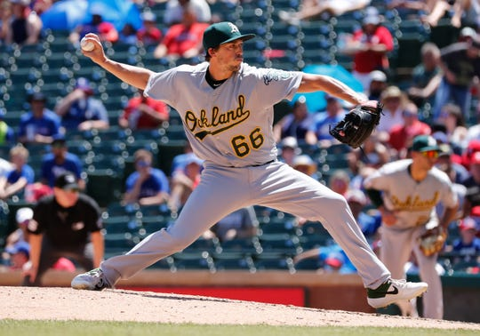 After nearly seven seasons in the Oakland Athletics organization, former UNCA pitcher Ryan Dull is joining his third team of 2019.