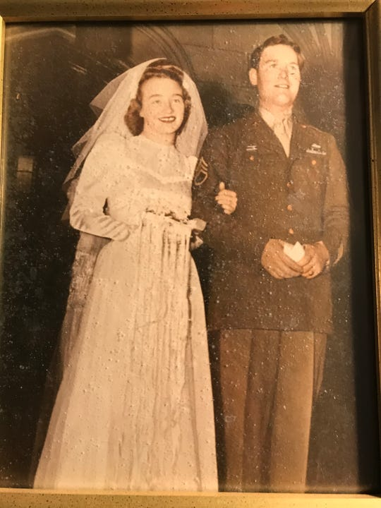 Tom and Mary Watson were married in 1945 at St. Patrick's Church in Binghamton.