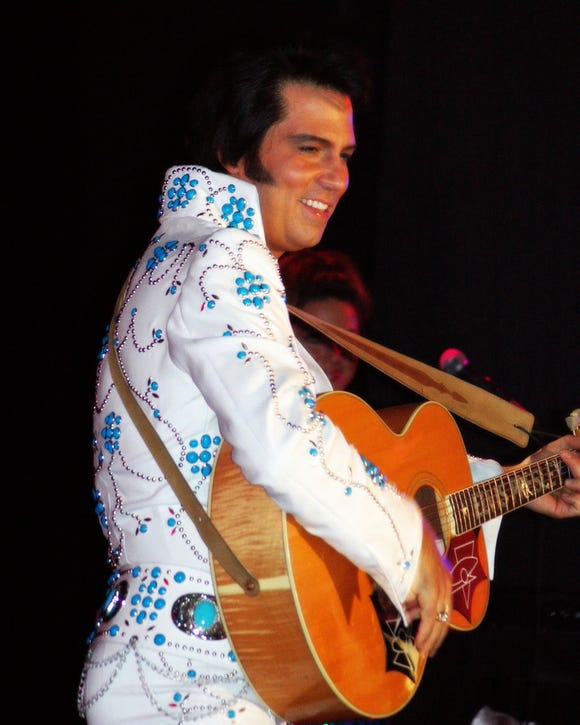 "Danny Vernon brings his ""Illusion of Elvis"" show to the Port Orchard waterfront for an Aug. 29 Concerts by the Bay show."