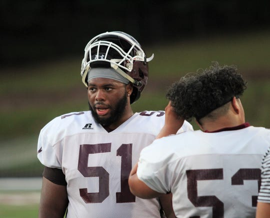 Senior Jaylin Davidson will play a key role on the Owen offensive and defensive lines this season as the Warhorses look to return to the playoffs in 2019.