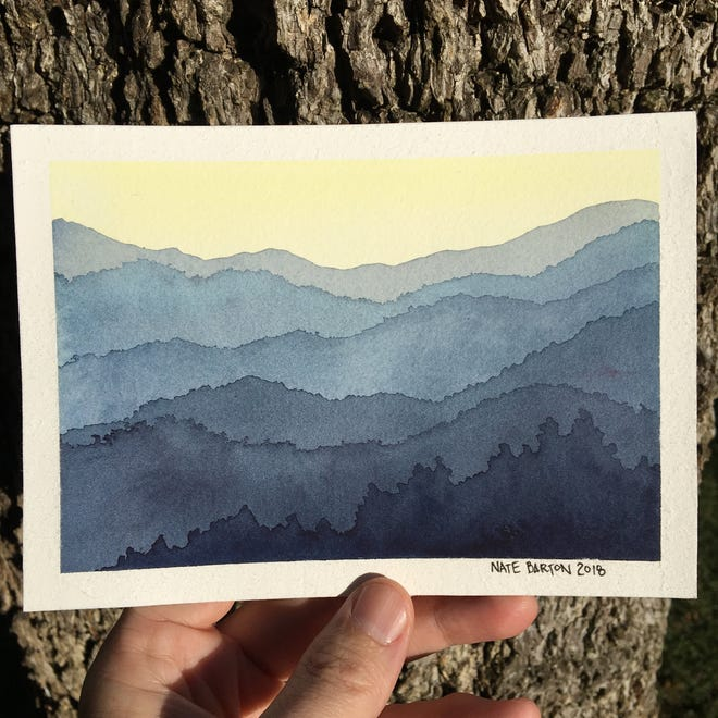 Artist Nate Barton, whose work is featured in this landscape watercolor painting, will lead three workshops at the Black Mountain Center for the Arts in September in October.