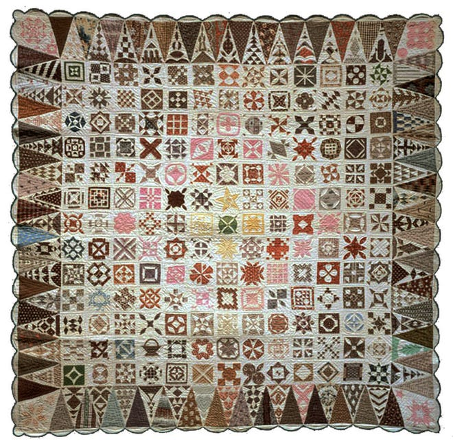 Visitors to the Bennington Museum will be able to see the 1863 Jane Stickle quilt between Aug. 31 and Oct. 14., 2019.