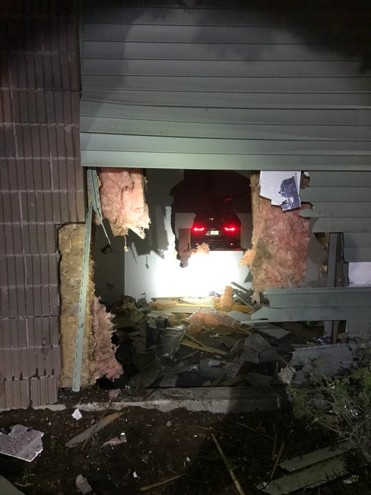 A car being driven by a 14-year-old crashed into Cornerstone Community Church in Milton in the early morning of Friday, Aug. 16, 2019.