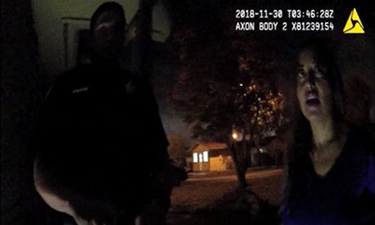Former Corpus Christi Police Department officer Norma DeLeon is seen on body camera footage.