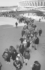 October 19, 1996: Two thousand people stood in line at the Riverfront Coliseum in  the chilly morning air to buy tickets for the upcoming Garth Brooks concert.