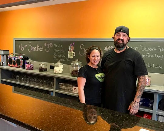 Natalie Deo and Damian Walsh, co-owners of Lucky's.