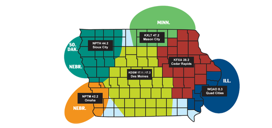 Here is the map for the IHSSN's new TV distribution plan.