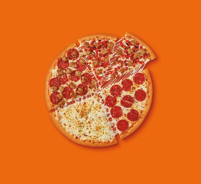 The new Qauttro pizza from Little Caesars
