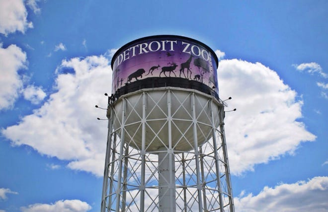 Outside of the Detroit Zoological Society.