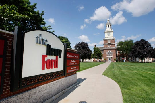 The Henry Ford Museum of American Innovation clock tower is shown in Dearborn. General Motors announced a $5 million contribution to the Henry Ford on Tuesday Oct. 17, 2017.