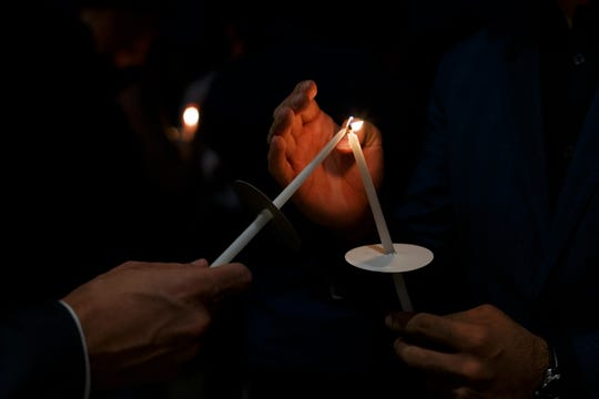 """""""His death was senseless,""""Miriam Aukerman, a lawyer with the ACLU, said in tears at the gathering."""