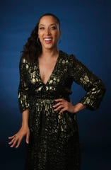 """In this Wednesday, July 24, 2019, file photo, Robin Thede, the creator, star and executive producer of the HBO comedy series """"A Black Lady Sketch Show,"""" poses for a portrait during the 2019 Television Critics Association Summer Press Tour at the Beverly Hilton, in Beverly Hills, Calif."""