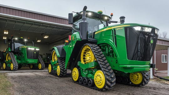 Trade wars and rising crop prices have Deere & Co. selling fewer tractors these days, like the 9470RX, shown.