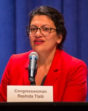 U.S. Rep. Rashida Tlaib, D-Detroit, says that she has not endorsed a candidate for president.