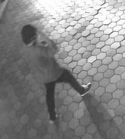 A security camera captured this image of a man suspected of an assault in downtown Fort Collins and who police are hoping the public can identify.