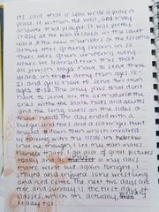 Pages from Briana McHam's journal while she was studying abroad in Israel.