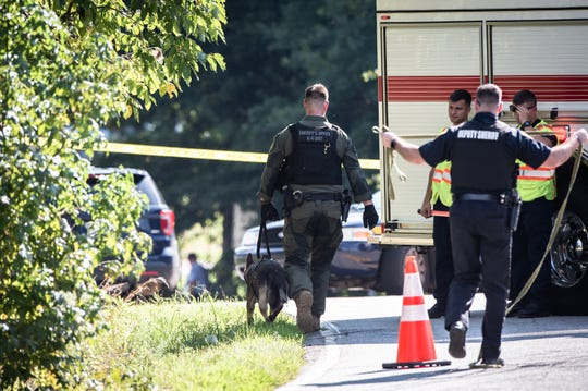 The Greenville County Sheriff's office investigated a shooting on Crestfield Road in Gantt in which one man was killed, Friday, August 16, 2019.