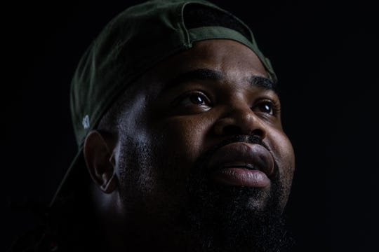 """The name Trajik came from battle rapping,"" said Big Trajik, Indianapolis rapper and actor. ""Because every time it was just tragic."" Portrait taken on Thursday, July 10, 2019."