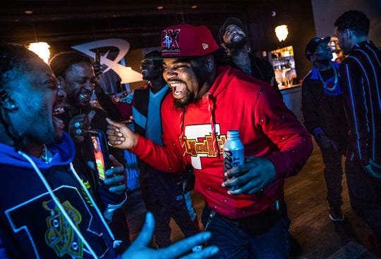 "Big Trajik, six months after portraying an aspiring musician in an episode of Fox series ""Empire,"" returned to network television in a new series ""Proven Innocent."" During a watch party and after his part was broadcast onto the large screens at Revel, Trajik is congratulated by friends on Friday, March 29, 2019."