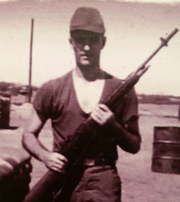 J.A. Gasperetti, during his two years as a soldier during the Vietnam War.