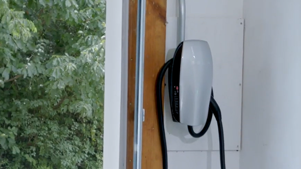 An example of one type of model of a Level 2 electric vehicle charger that EV owners can install in their homes to be eligible to receive up to $400 in rebates from KUB's new program.