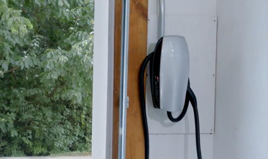 An example of one type of model of a Level 2 electric vehicle charger that EV owners can install in their homes to be eligible to receive up to $400 in rebates from Knoxville Utility Board's new program.