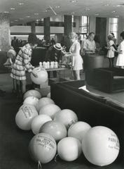 Park National Bank held a two-day open house at its new main bank building at S. Gay Street and Union Avenue, June 1974.