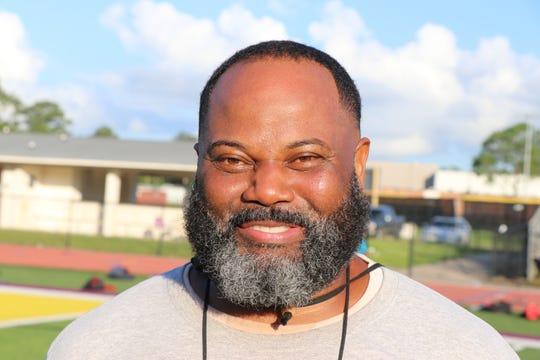 St. Martinville Senior High head coach Vincent DeRouen holds summer practice.