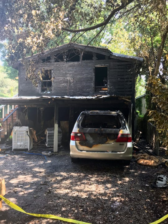 Lafayette firefighters responded to a house fire that investigators think was intentionally set.