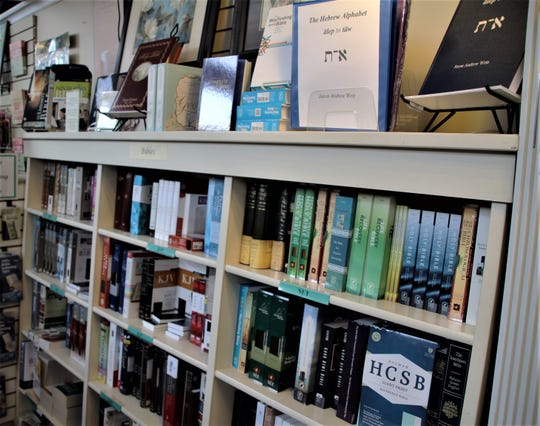 Bibles are the top-selling items at Hope Crossing Christian Books & Gifts. The shop also offers Bible study books, reference guides, devotional books, and Christian literature.